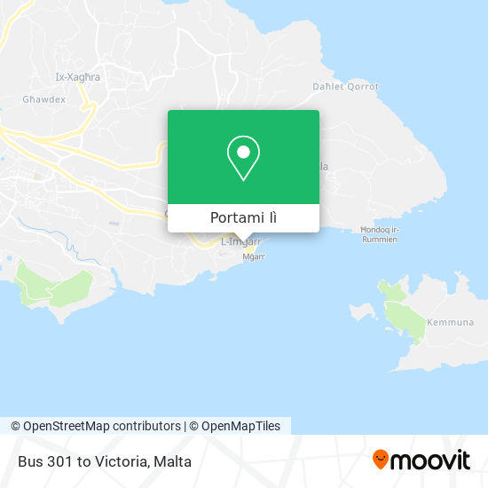 Mappa Bus 301 to Victoria