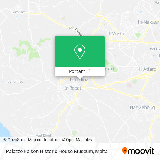 Mappa Palazzo Falson Historic House Museum