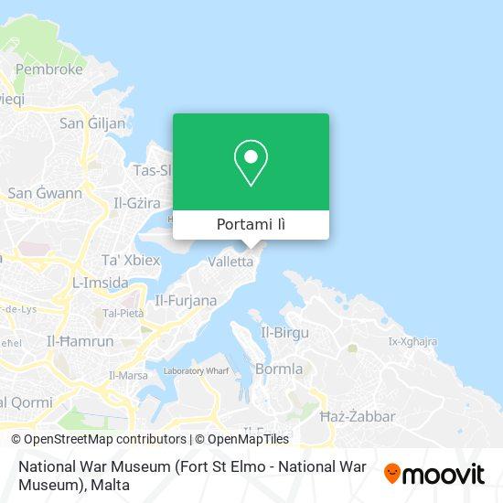 Mappa National War Museum (Fort St Elmo - National War Museum)