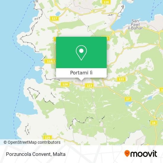 Mappa Porzuncola Convent
