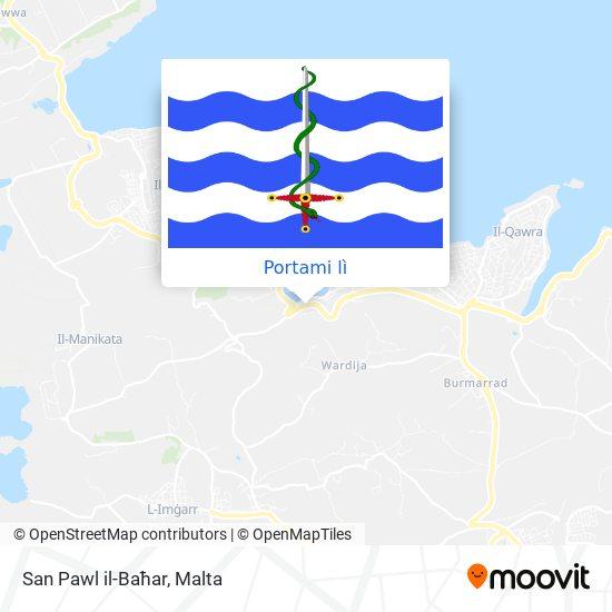 Mappa San Pawl il-Baħar