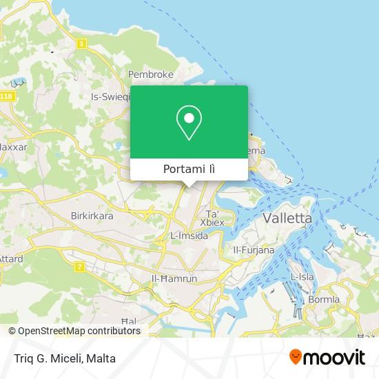 Mappa Triq G. Miceli
