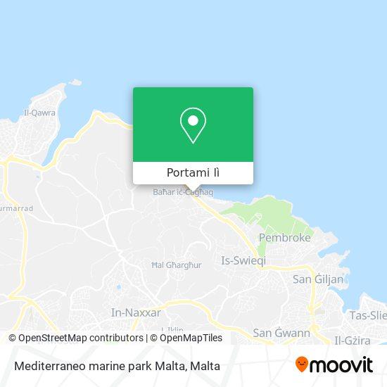Mappa Mediterraneo marine park Malta