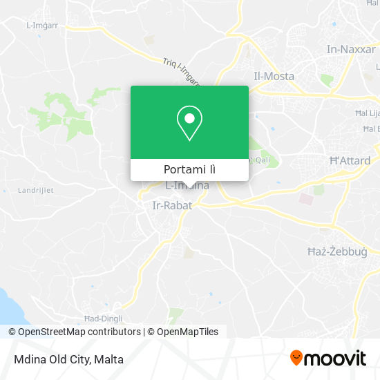 Mappa Mdina Old City