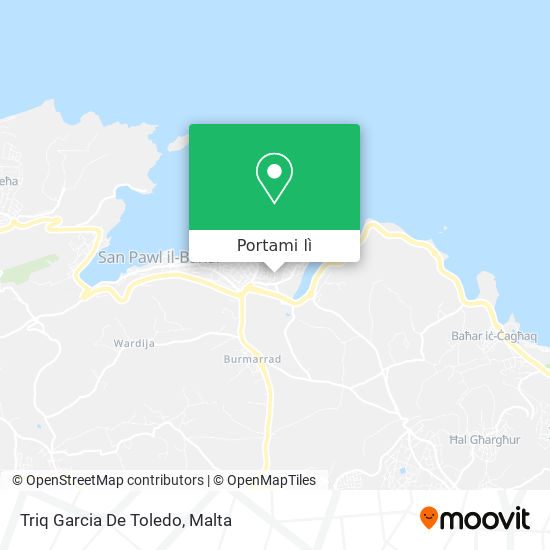 Mappa Triq Garcia De Toledo