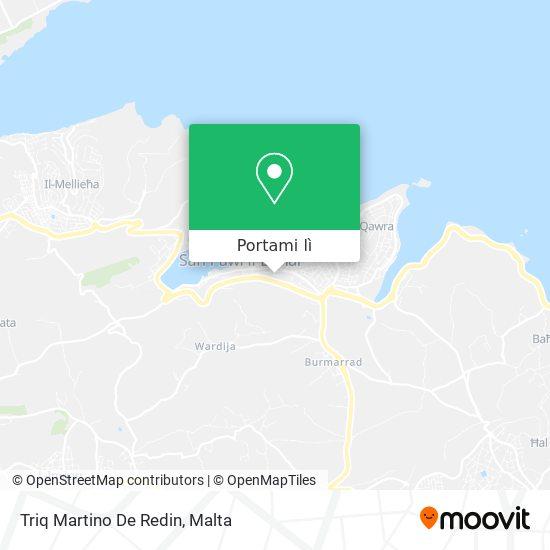Mappa Triq Martino De Redin