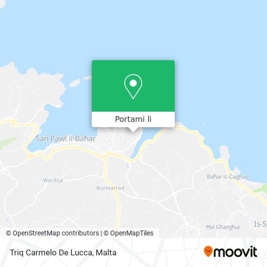 Mappa Triq Carmelo De Lucca