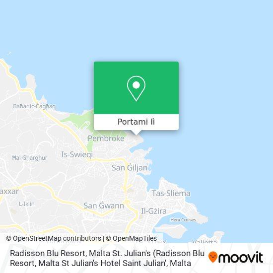 Mappa Radisson Blu Resort, Malta St. Julian's