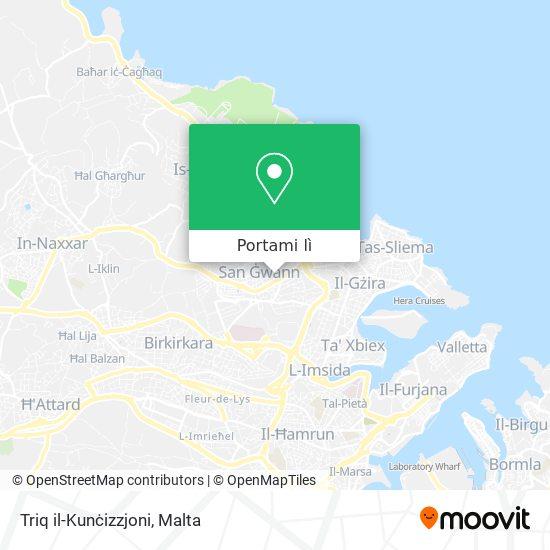 Mappa Triq il-Kunċizzjoni