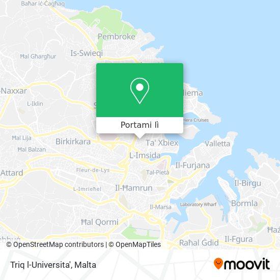 Mappa Triq l-Universita'