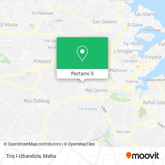 Mappa Triq l-Iżbandola