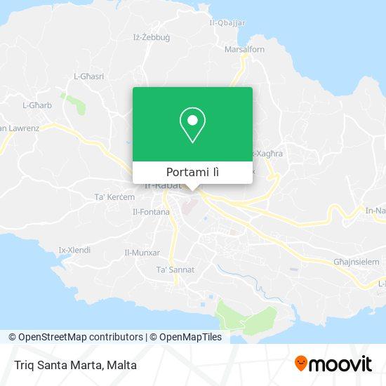 Mappa Triq Santa Marta