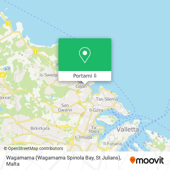 Mappa Wagamama (Wagamama Spinola Bay, St Julians)