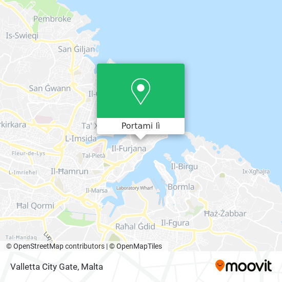 Mappa Valletta City Gate