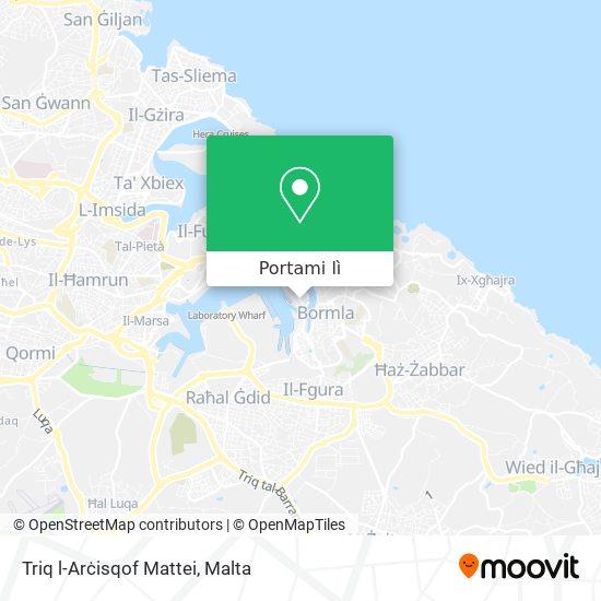 Mappa Triq l-Arċisqof Mattei