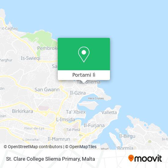 Mappa St. Clare College Sliema Primary