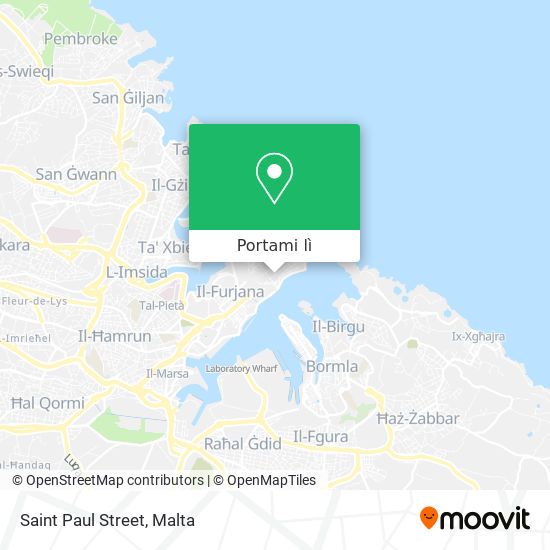 Mappa Saint Paul Street