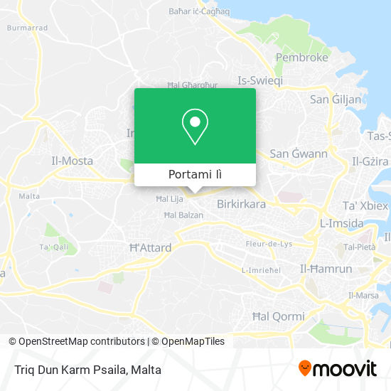 Mappa Triq Dun Karm Psaila