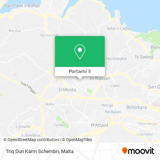Mappa Triq Dun Karm Schembri