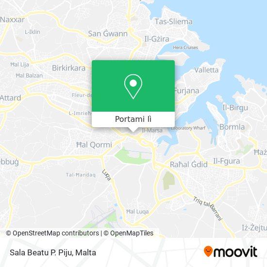Mappa Sala Beatu P. Piju
