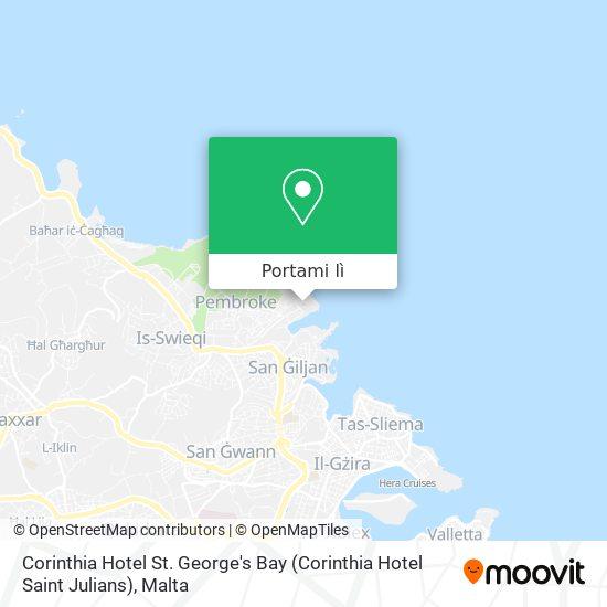 Mappa Corinthia Hotel St. George's Bay (Corinthia Hotel Saint Julians)