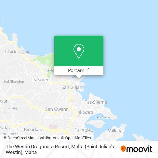 Mappa The Westin Dragonara Resort, Malta (Saint Julian's Westin)