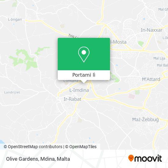 Mappa Olive Gardens, Mdina