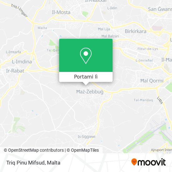 Mappa Triq Pinu Mifsud