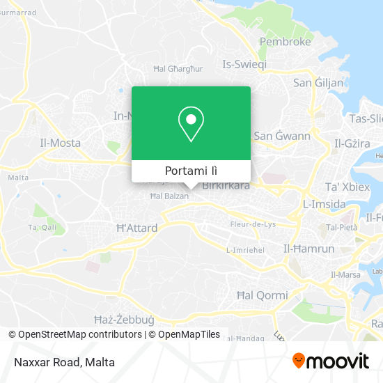 Mappa Naxxar Road