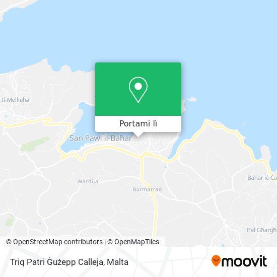 Mappa Triq Patri Ġużepp Calleja