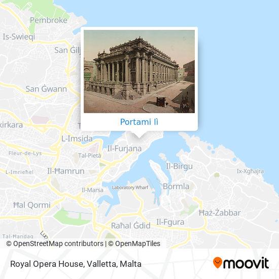 Mappa Royal Opera House, Valletta