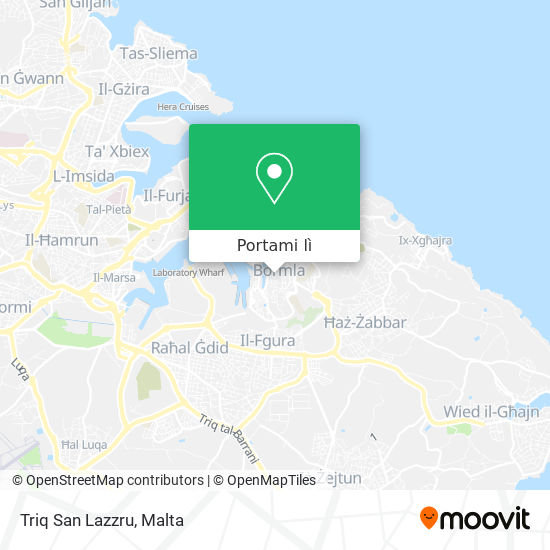 Mappa Triq San Lazzru