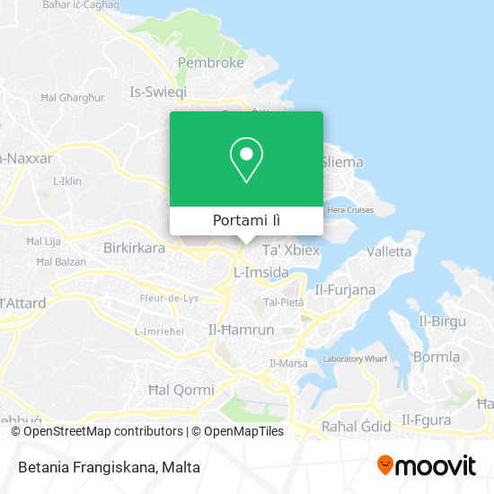 Mappa Betania Frangiskana