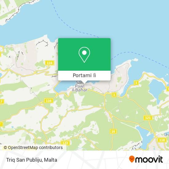 Mappa Triq San Publiju