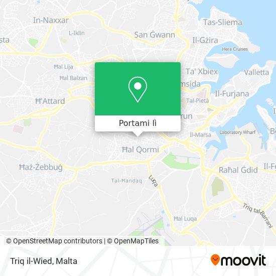 Mappa Triq il-Wied