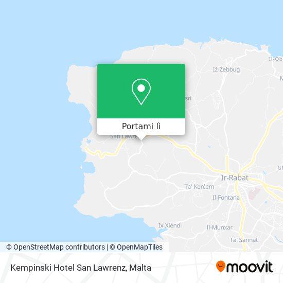 Mappa Kempinski Hotel San Lawrenz