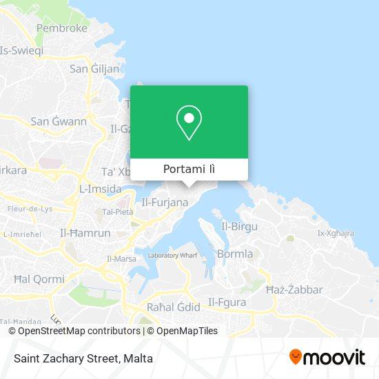 Mappa Saint Zachary Street