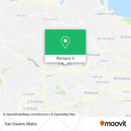 Mappa San Gwann