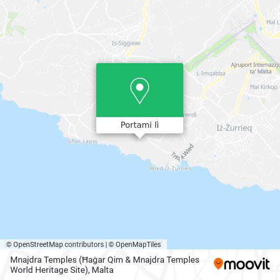 Mappa Mnajdra Temples (Ħaġar Qim & Mnajdra Temples World Heritage Site)