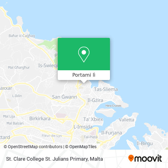 Mappa St. Clare College St. Julians Primary