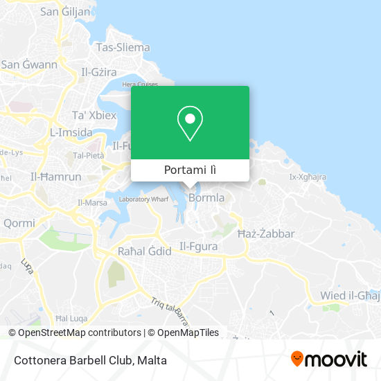 Mappa Cottonera Barbell Club