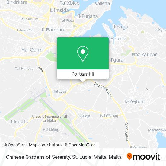 Mappa Chinese Gardens of Serenity, St. Lucia, Malta