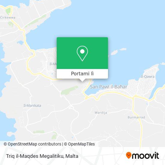 Mappa Triq il-Maqdes Megalitiku