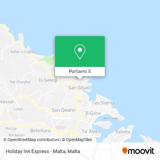 Mappa Holiday Inn Express - Malta