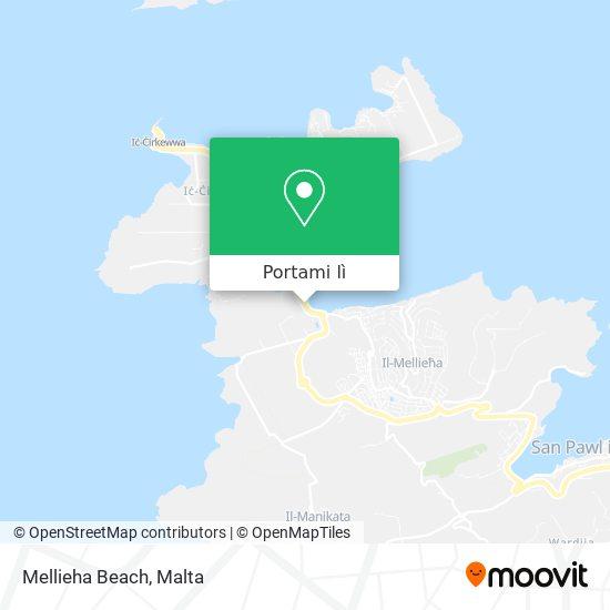 Mappa Mellieha Beach