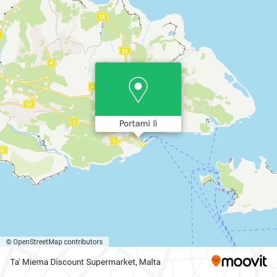 Mappa Ta' Miema Discount Supermarket