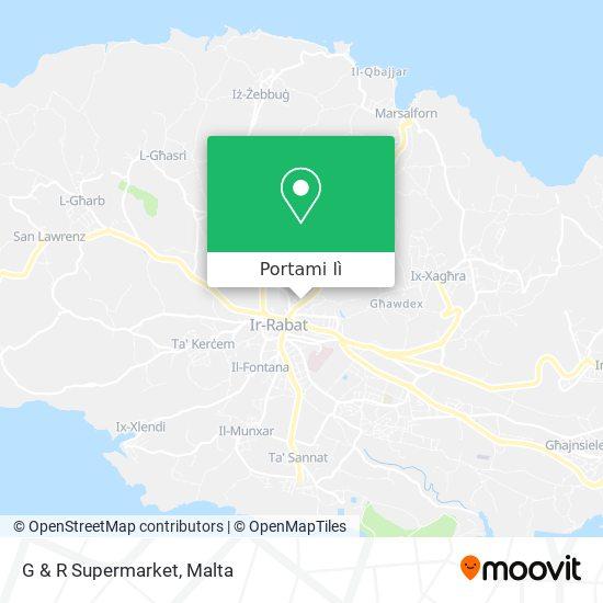 Mappa G & R Supermarket
