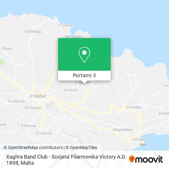 Mappa Xaghra Band Club - Soċjeta' Filarmonika Victory A.D. 1898