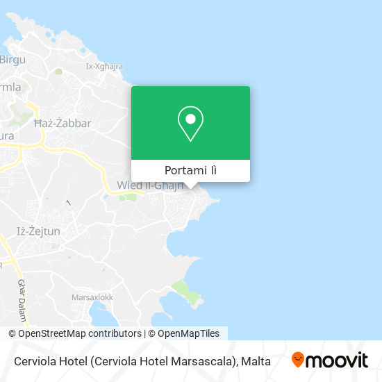 Mappa Cerviola Hotel (Cerviola Hotel Marsascala)