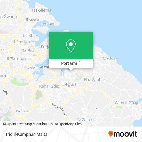 Mappa Triq il-Kampnar